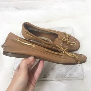 {Sperry} Classic Leather Boat Shoe Flats